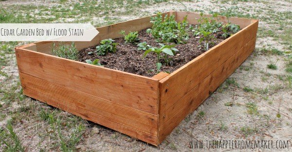 DIY raised cedar garden beds