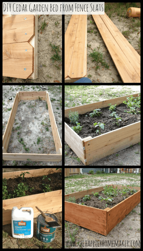 garden bed collage
