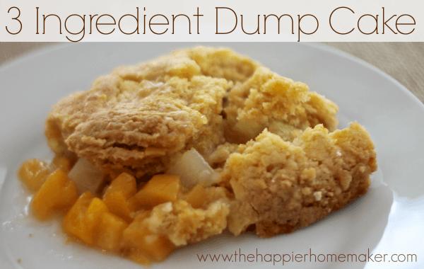 3 ingredient dump cake
