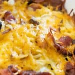 easy cheesy bacon hash brown casserole