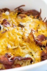 easy cheesy bacon hash brown casserole