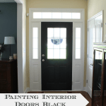 painting doors black