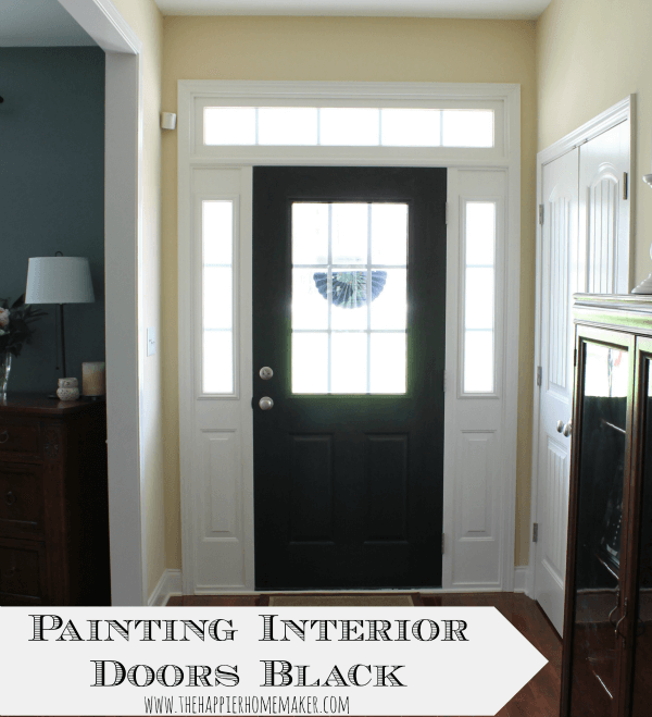 Painting interior doors black the happier homemaker - Your guide to house interior doors options ...
