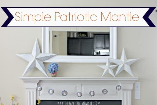simple patriotic mantle
