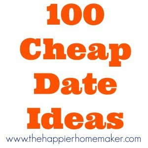 """The words """"100 cheap date ideas"""" on a white background"""