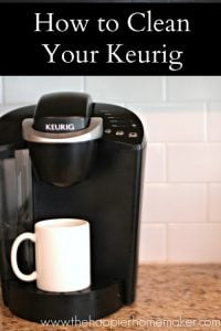 how to clean keurig