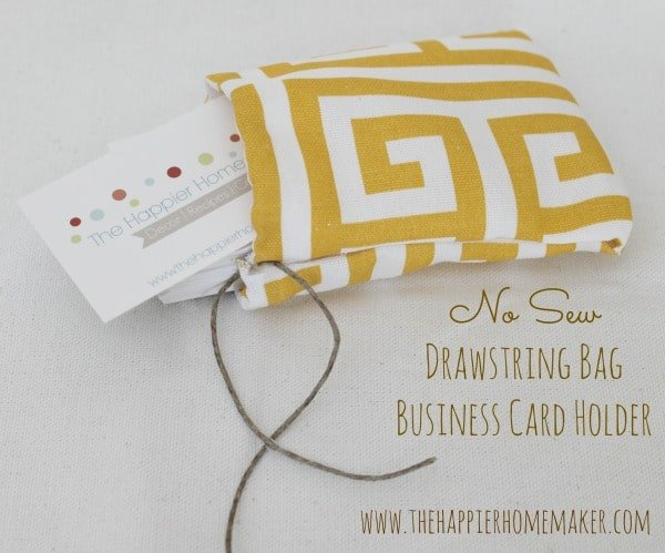 no sew business card holder
