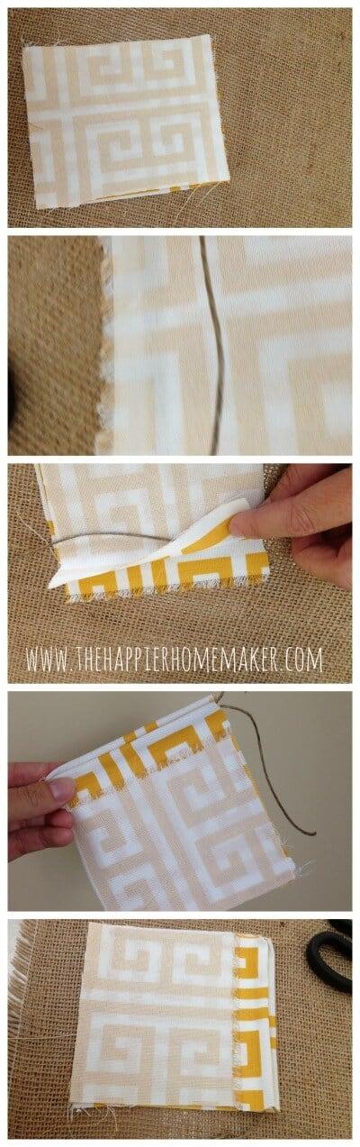 no sew drawstring bag tutorial