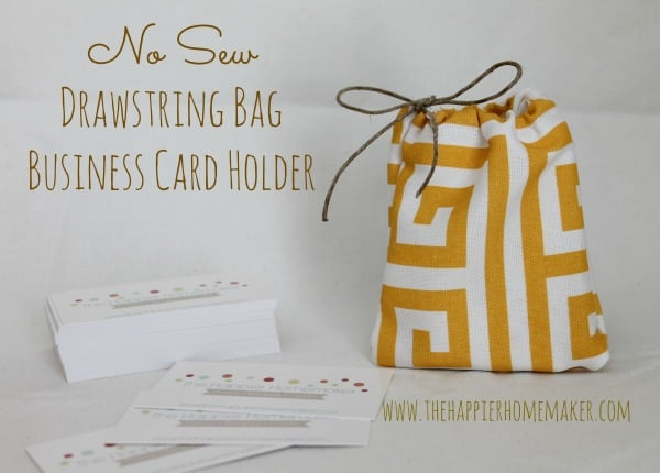 no sew drawstring bag