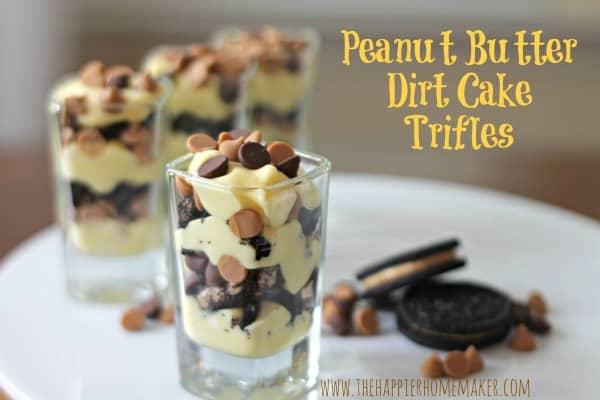 peanut butter dirt cake trifles