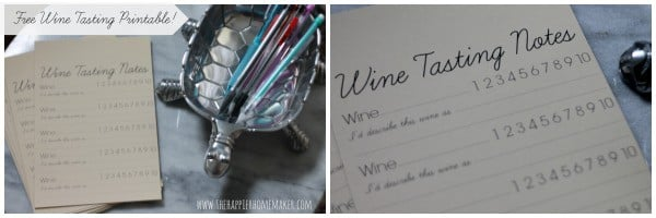 free wine tasting printable