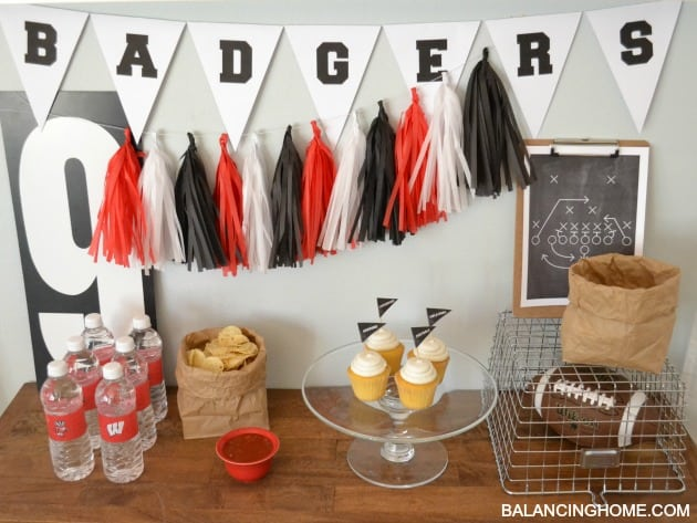 gameday entertaining and printables