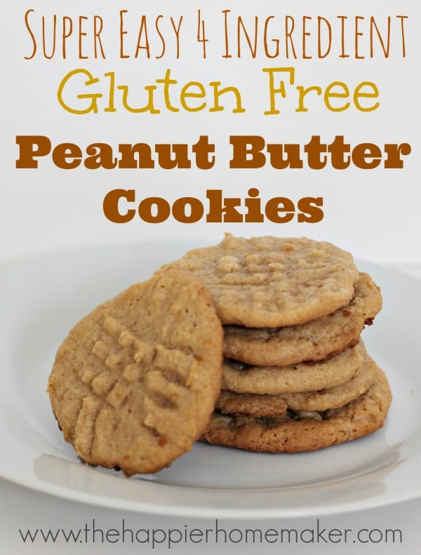gluten free easy peanutb utter cookies