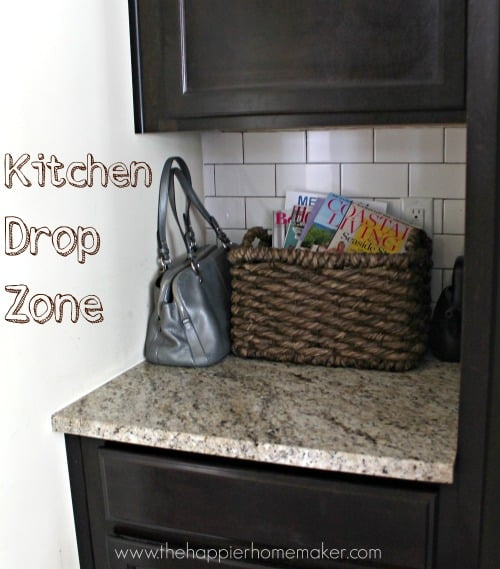 All about the details blogger 39 s kitchen tours the for Kitchen drop zone ideas