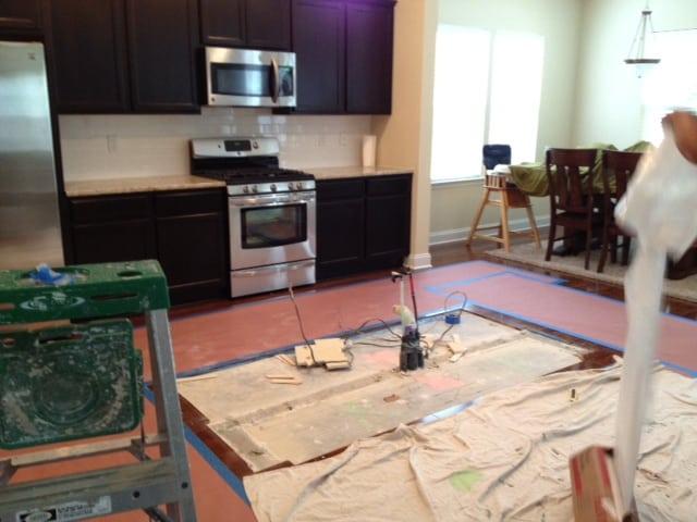 kitchen island move