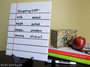 loose leaf dry erase memo from tile 13