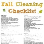 A printable fall cleaning checklist