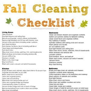 free fall cleaning checklist and a my favorite vacuum the happier homemaker