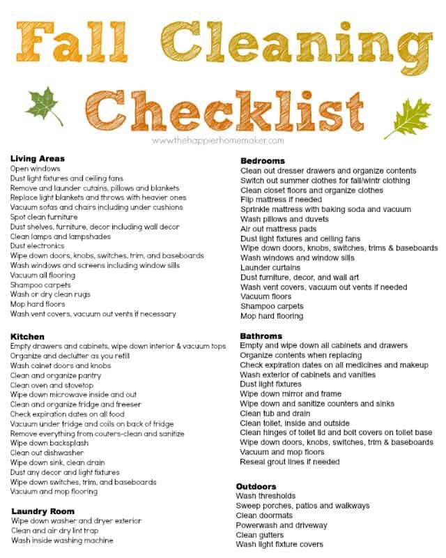 Free fall cleaning checklist and a my new lean mean for Fall yard clean up checklist