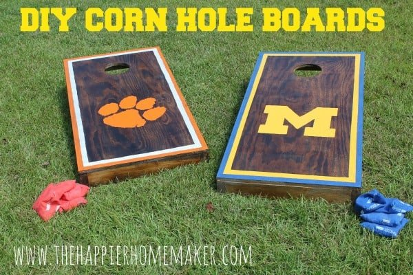 diy corn hole boards