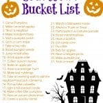 A printable Halloween countdown bucket list