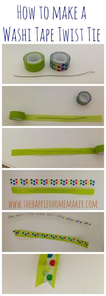 how to washi tape twist tie