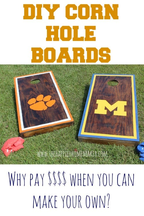 making your own corn hole boards diy