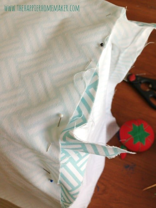 pinning sewing machine cover