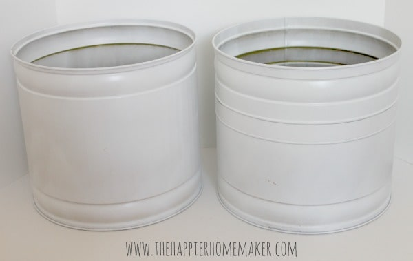 planters after spray painting
