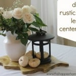 rustic wood leaf diy centerpiece