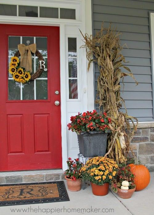 autumn porch close up