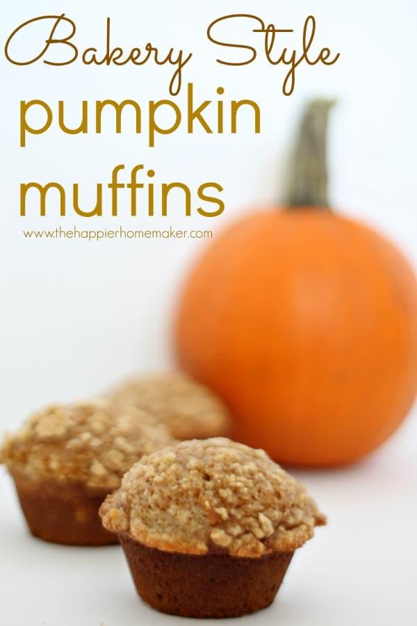 bakery style pumpkin muffins