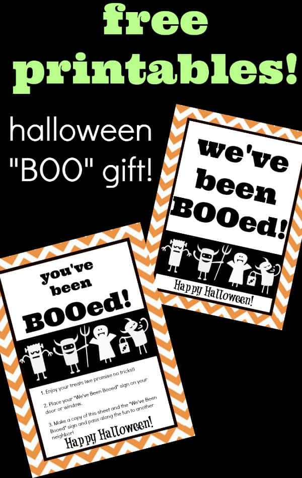 picture relating to You've Been Booed Free Printable called Cost-free Youve Been BOOed Free of charge Printables for Halloween Boo Luggage