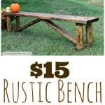 homemade cheap farmhouse bench