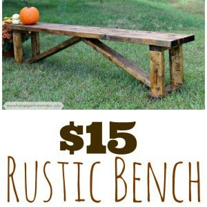 homemade cheap farmhouse bench