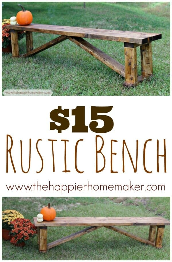 cheap rustic bench