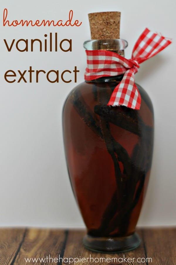 homemade vanilla extract diy gift
