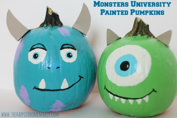 mondsters university painted pumpkins