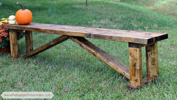 rustic $15 bench