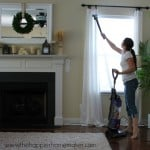 vacuuming curtains