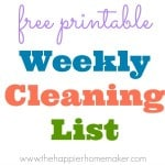 weekly cleaning list thumbnail