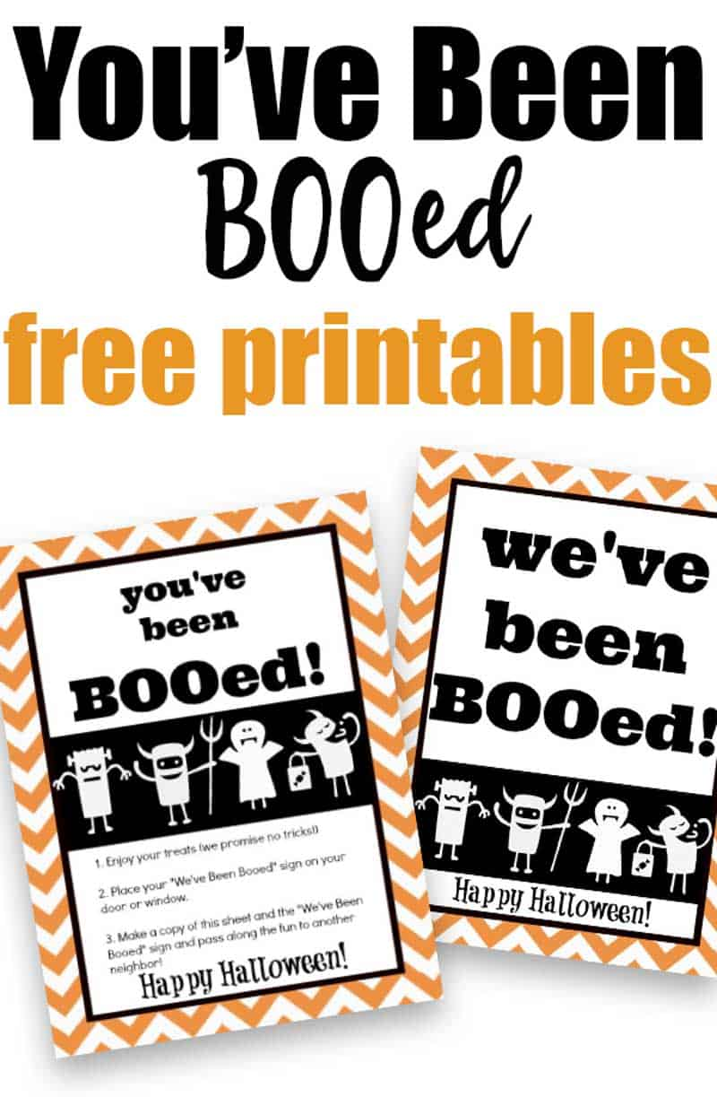 Free You Ve Been Booed Free Printables For Halloween Boo Bags