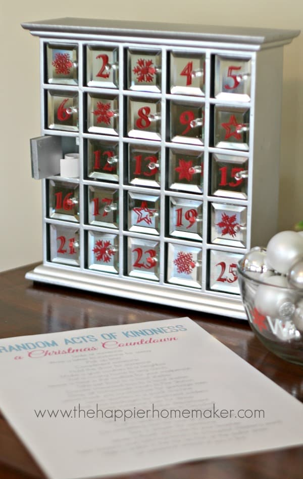 Diy Countdown Calendar : Christmas good deeds countdown the happier homemaker