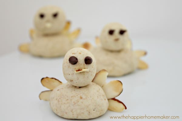 almond cookie turkeys