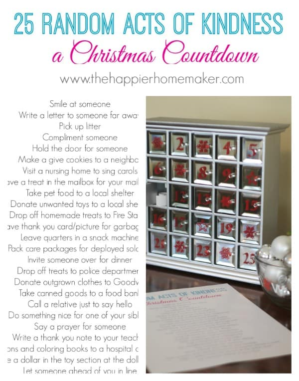 christmas countdown kindness random