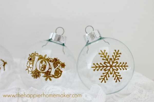 close up diy ornaments silhouette cameo