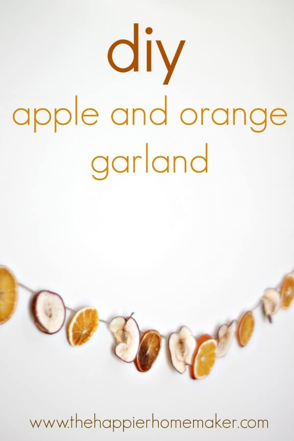 DIY dried apple and orange slice garland