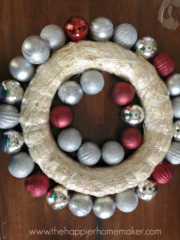 How To Make An Diy Ornament Wreath The Happier