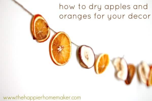 how to dry apples and oranges for decor