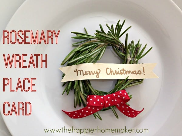 rosemary wreath placecard